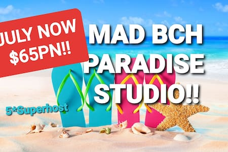 Mad Bch Paradise Studio**JULY NOW $65PN !