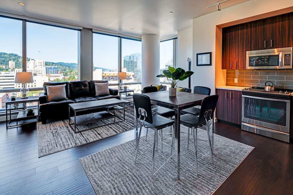 Living Area at Park Avenue West by Stay Alfred