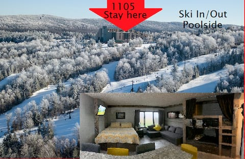 Renovated Ski in/out, pool view, slps 6, #1105
