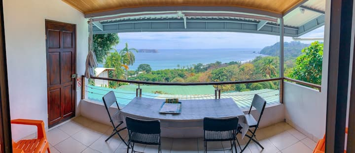 2Rooms for 8 guest-Ocean View-Kitchen,pool,A/C