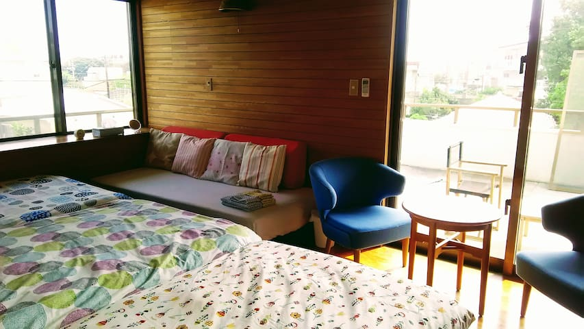 SIMMONS semi double beds☆Free bicycles☆Cozy house! - Ishigaki-shi - Gjestehus