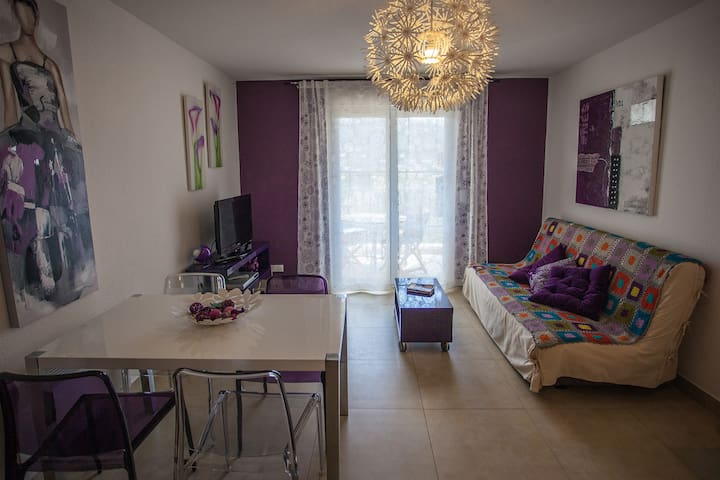 Cosy flat in residence, quiet, central, beach - L'Île-Rousse - Condominio