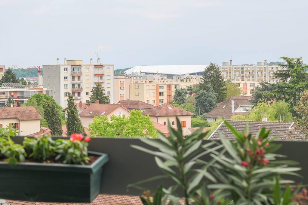 vue du stade de mon balcon