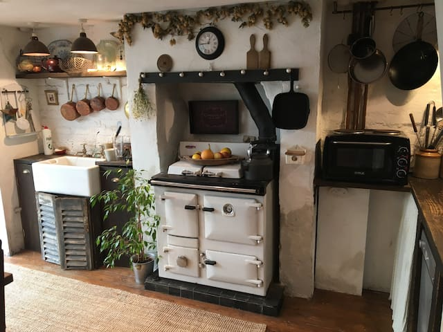Raeburn Royal, Butlers sink, electric oven and hobs