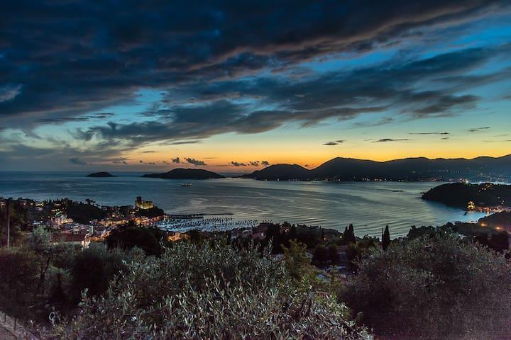 Piccola  villa  con spettacolare vista sul mare. - Lerici - Villa