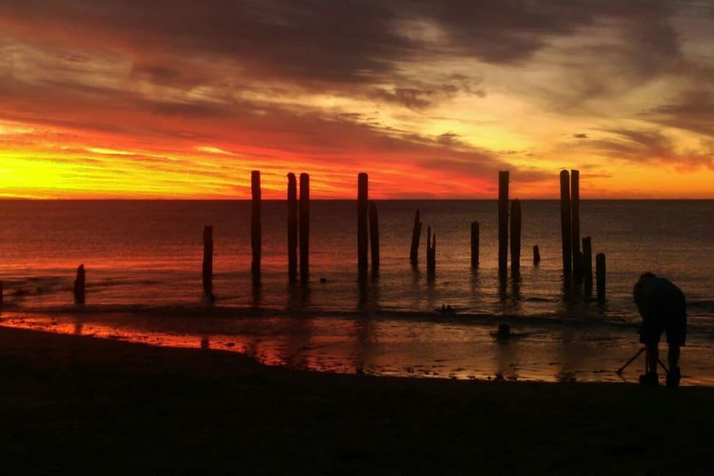 Iconic Pt Willunga jetty remains.