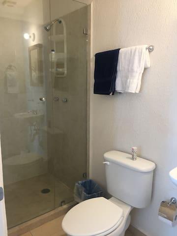 Cancel en baño de recamara principal