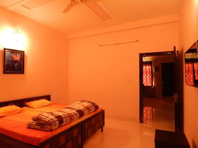 Spacious AC  Bedroom , Plenty of Greens  & Oxygen.