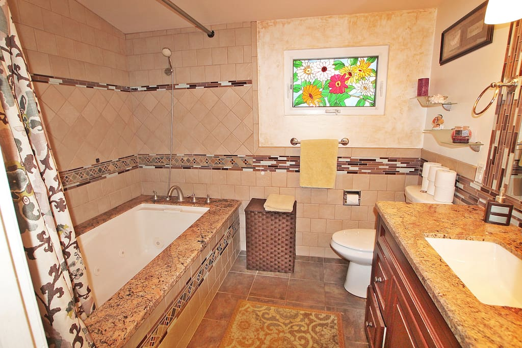 Master Bathroom, with Jacuzzi tub