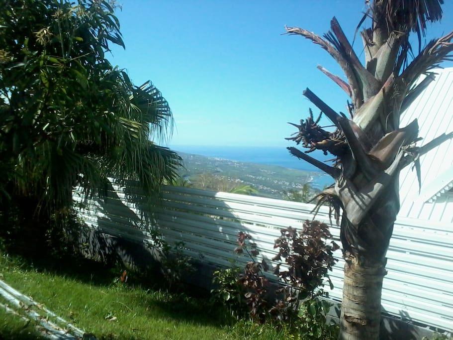 Vu sur le littoral, jardin accessible H24