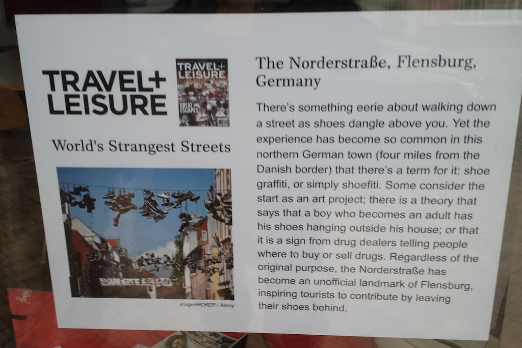 Das Magazin Travel + Leisure kürt die Norderstraße zur World's Strangest Street!