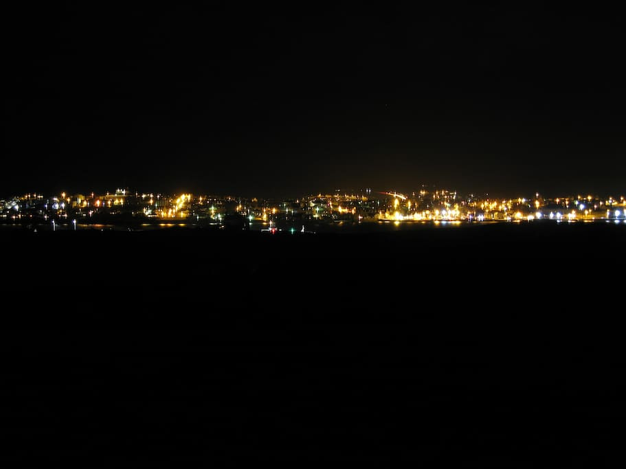 View of Lerwick at night.