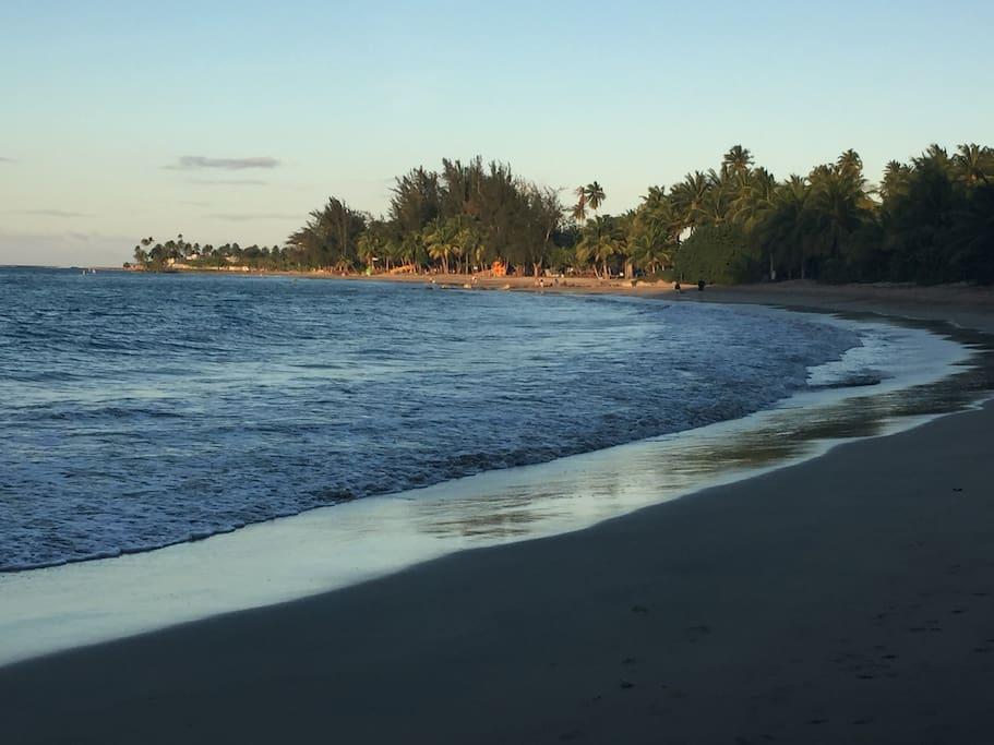 Miles of white sandy beaches