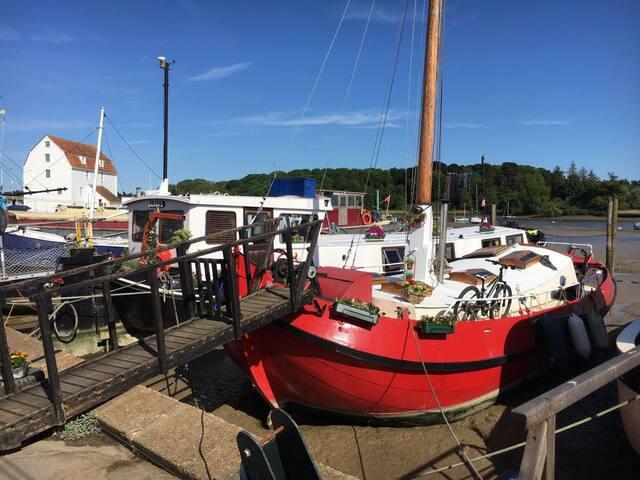 Beautiful Dutch Barge on River Deben