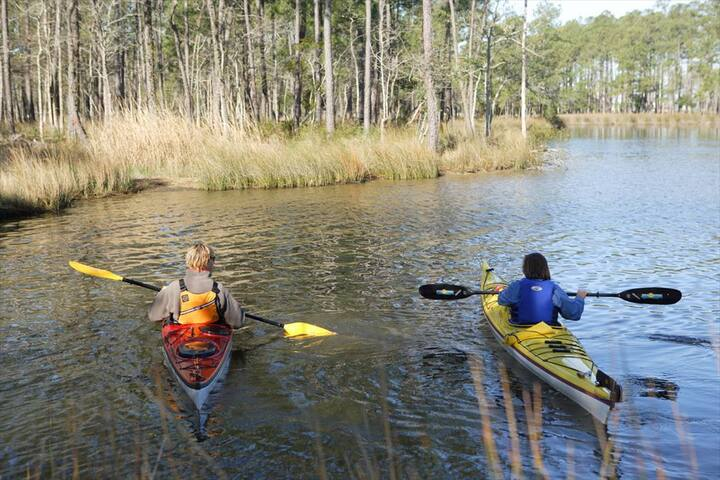 Great location for Kayaking, Paddleboarding or Kitre Surfing