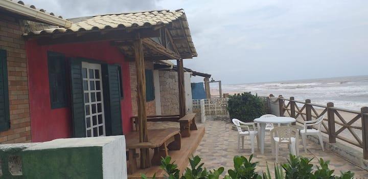 Casa na Siribinha, frente mar, 4 quartos