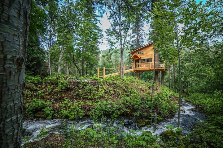 * Hansel Creek Gust Tree House * On 150 Acres