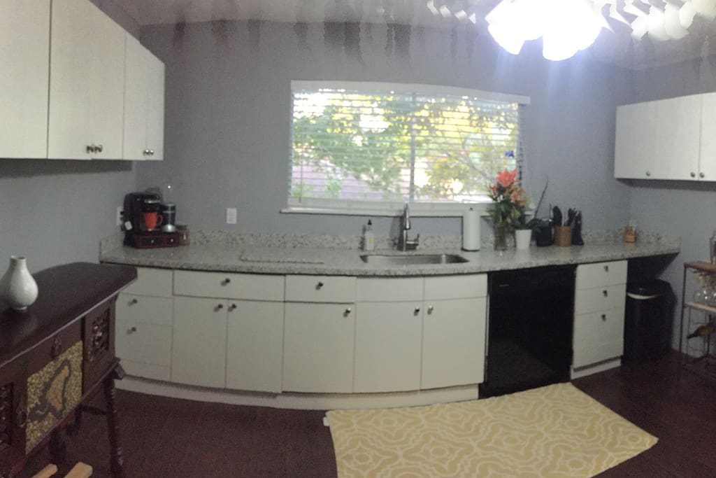 Remodeled granite kitchen area with all new appliances