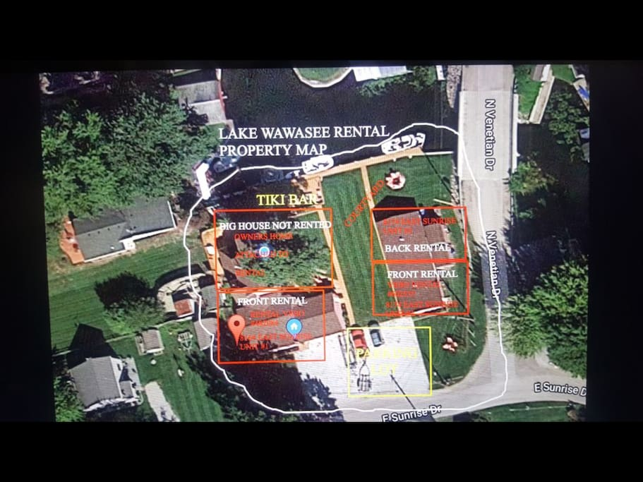 Satellite view of the entire property