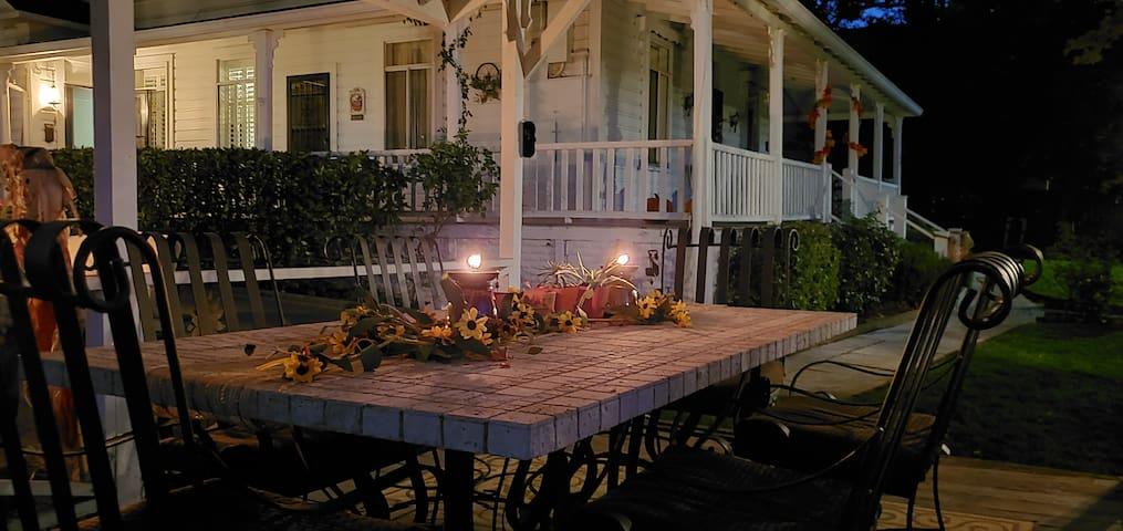 Enjoy outside dining in the gazebo.