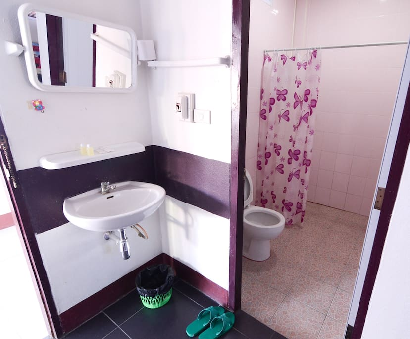 comfortable rest room with hot shower