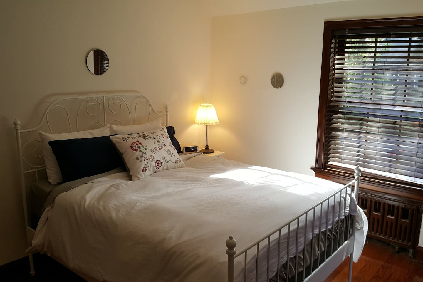 Our primary guest bed is a queen with a memory foam mattress.