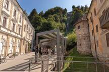 Funicular to Ljubljana's castle with magnificent view's to Ljubljana city and river