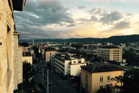 Private bedroom with an AMAZING view in the center - Zürich - Apartment