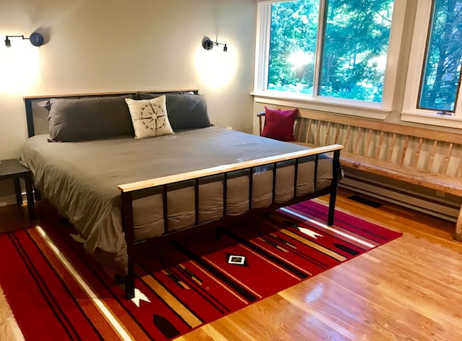 Guests have loved the King Size bed in Master bedroom with memory foam super comfy mattress and soft high quality linens and duvet. Actually guests have remarked that all of the beds in our home are so comfy!