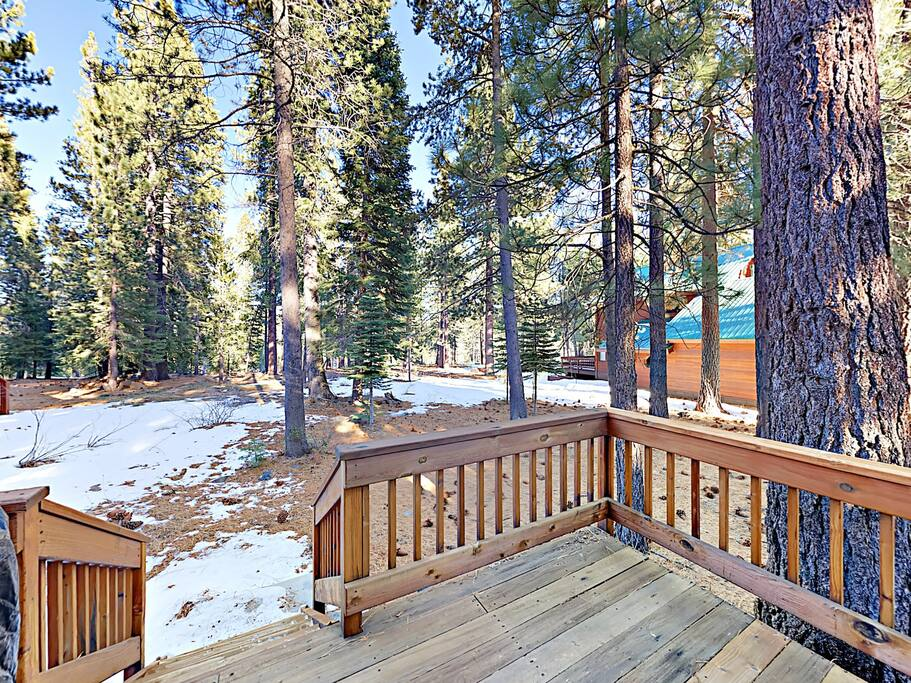 This home sits just off the 9th fairway of the Tahoe Donner Golf Course.