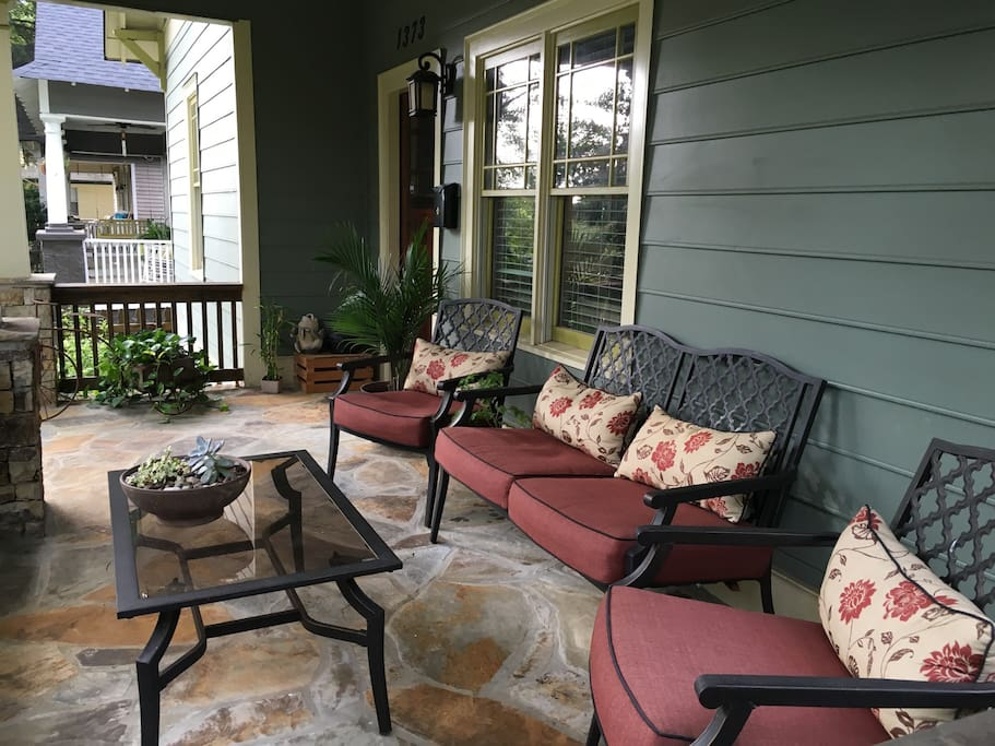Comfortable front porch for relaxing.