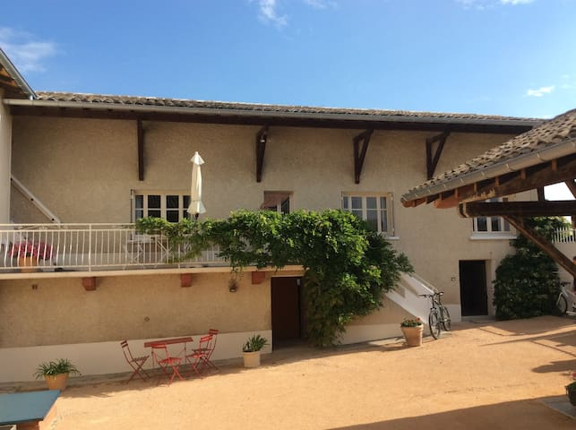 A renovated French winefarm.