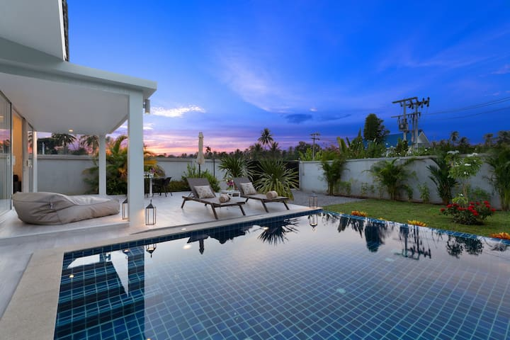 Cotton villa 1 bedroom with swimming pool Maenam