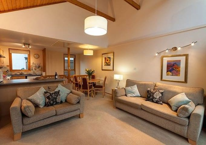 Keswick Bridge 2 bedroom, Keswick, with balcony overlooking the river or woodland.