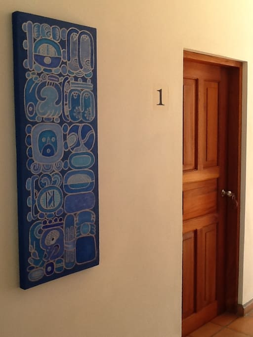 Commissioned art throughout the property.
