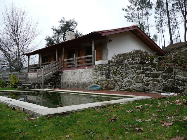 Rustic house with pool in a beautiful farm - Vieira do Minho - Rumah