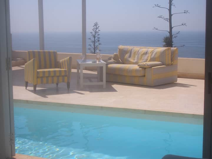 Ocean-front villa with heated pool south of AGADIR