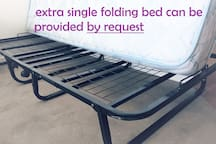 extra single folding bed can be provided by request