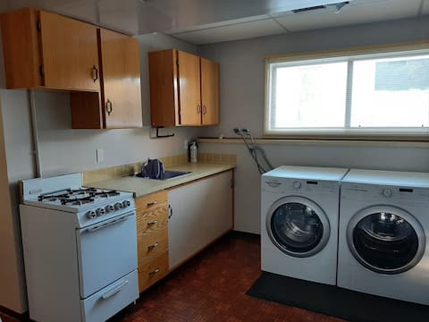 Private basement suite. Bathroom bedroom, kitchen