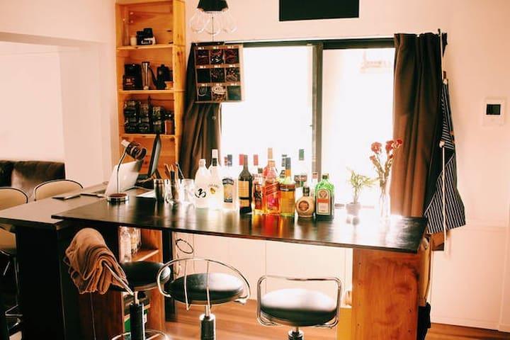 【Sakae, Osu】Photographer's room a lot of alcohol! - Nagoya-shi - Apartament