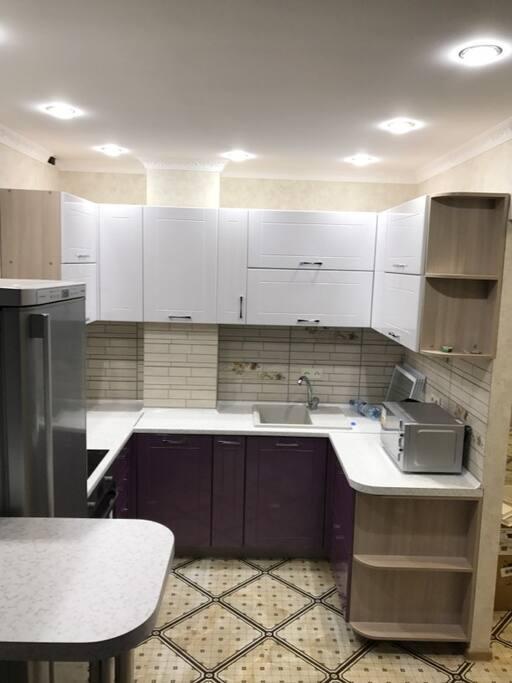 Основная комната и кухня совмещены