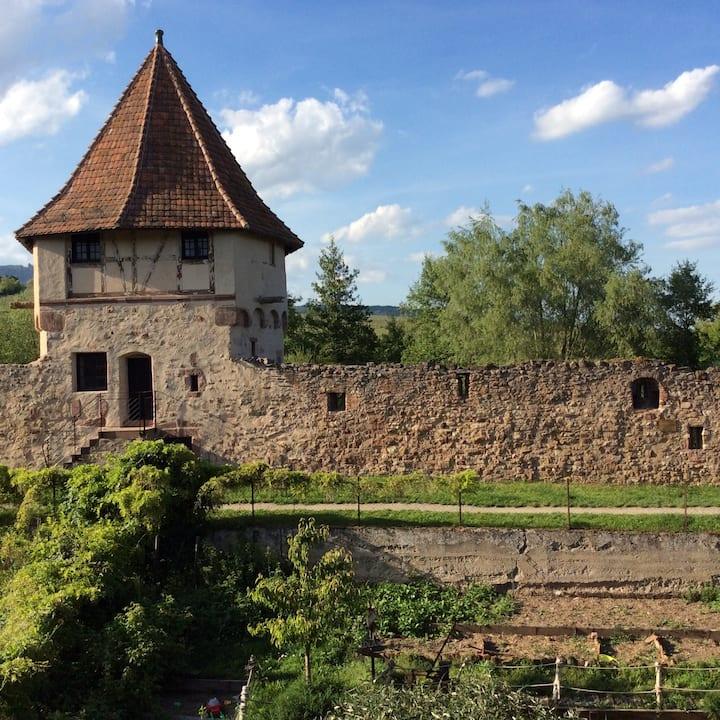 La Maison des Remparts, Alsace, Bergheim.