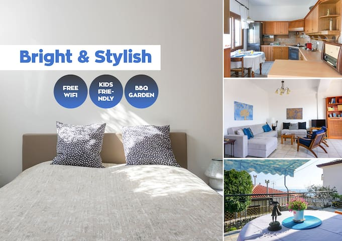 Bright & Stylish | Old Town | 1 min.Beach | Garden