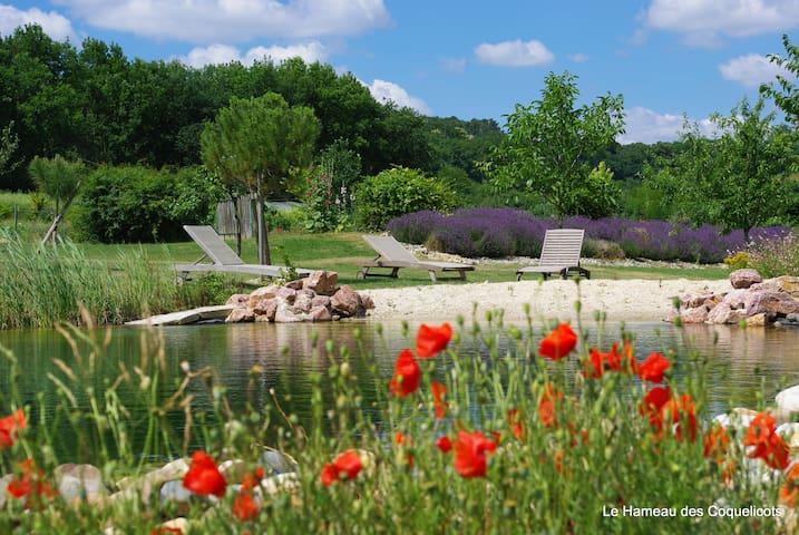 Eco-gite ****, piscine naturelle et potager bio