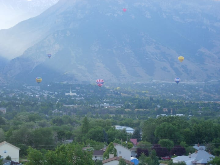 Spectacular views of BYU Stadium and the Wasatch!