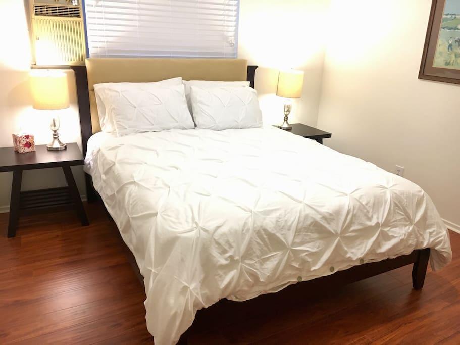 Queensize Bed in Private Bedroom