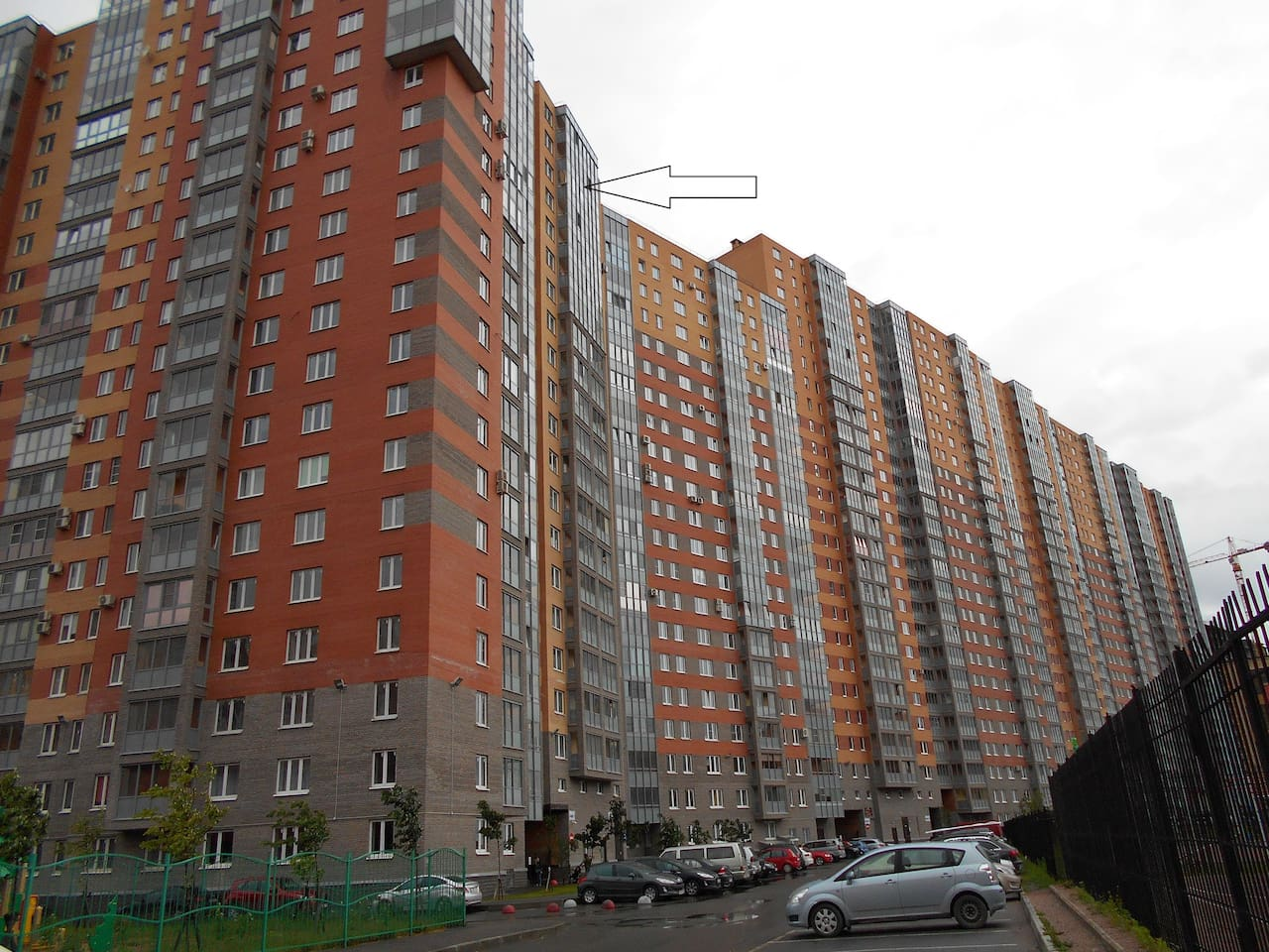 Однокомнатная квартира на 20 этаже.