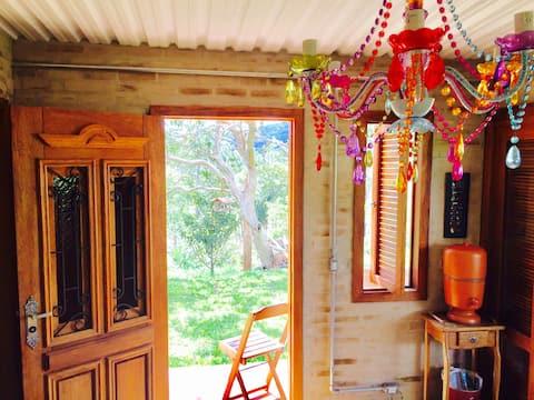 Casa de campo para se conectar com a Natureza