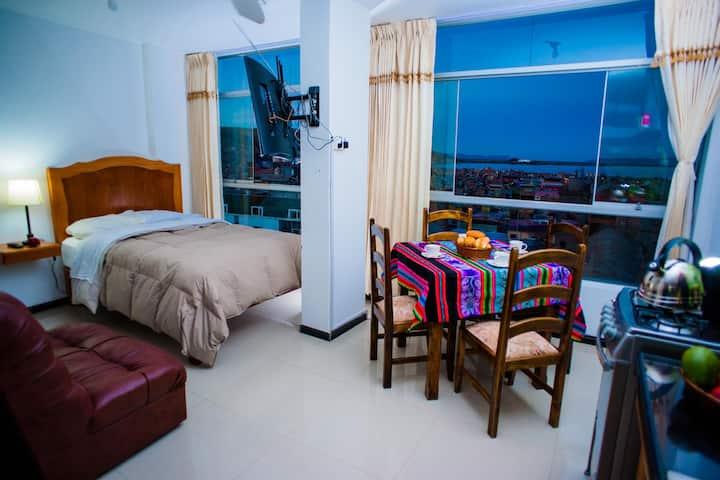 Como en Casa, vista espectacular al lago Titicaca.