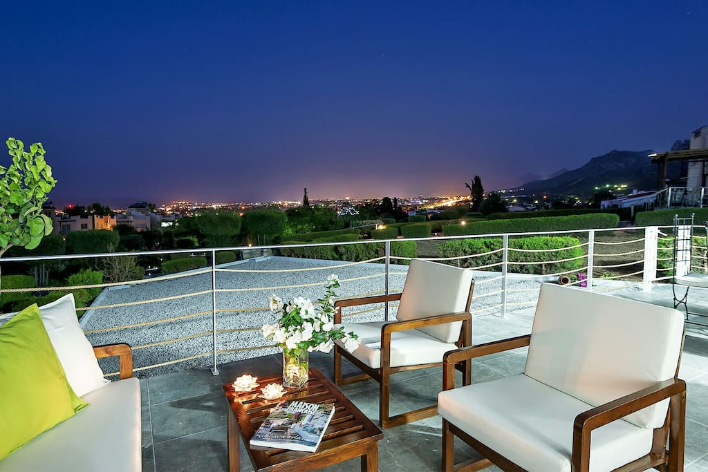 Balcony space and view